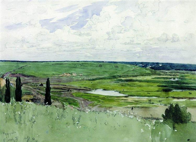 Landscape near Chuguevo - Ilya Repin