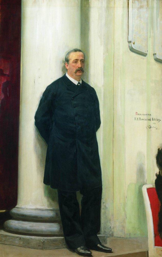 Portrait of composer and chemist Aleksander Porfirievich Borodin, 1888
