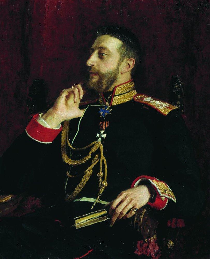 Portrait of poet Grand Prince Konstantin Konstantinovich Romanov, 1891