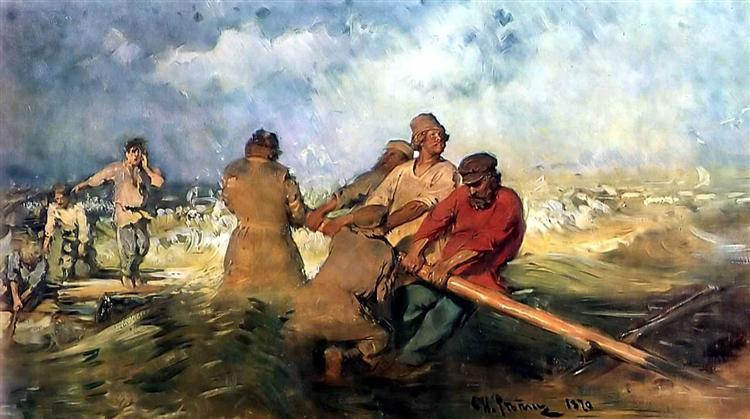 Storm on the Volga, 1870 - 1891 - Ilya Repin