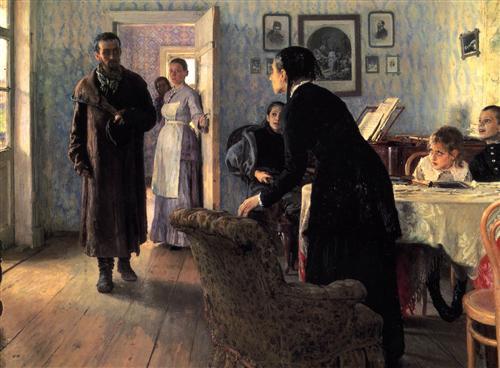 Unexpected Visitors - Ilya Repin