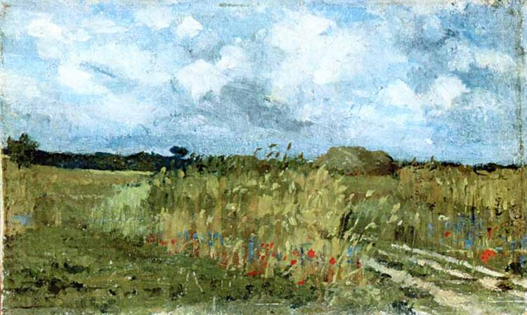 Flowering field, 1879 - Ion Andreescu