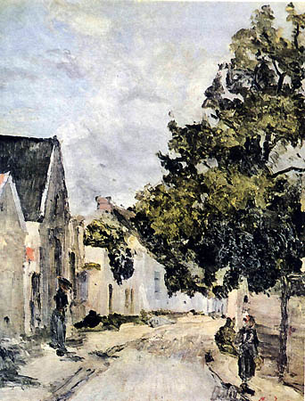 Street from Barbizon during summer time