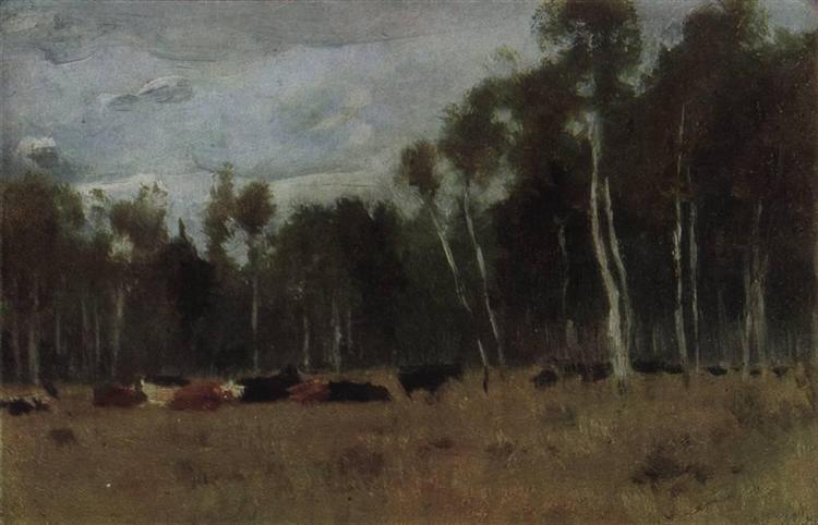 A herd, 1890 - Isaac Levitan