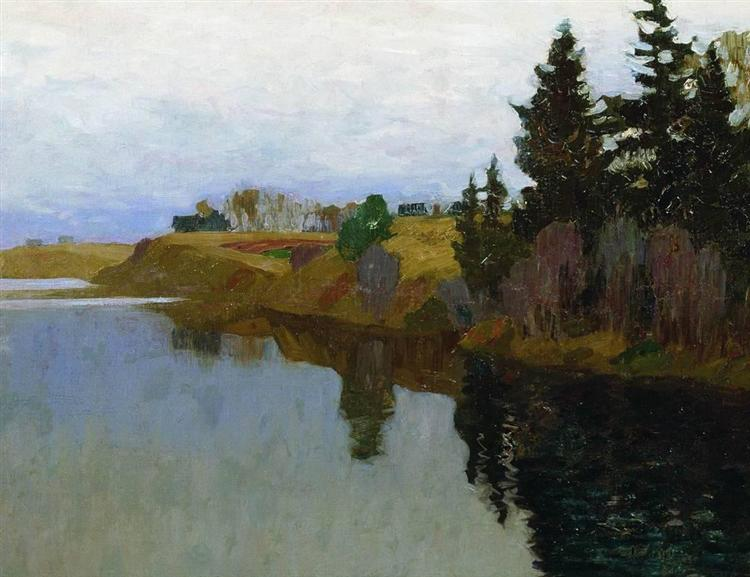 A lake, 1893 - Isaak Iljitsch Lewitan
