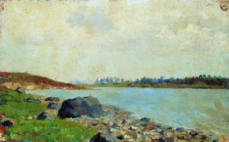 At Moscow-river, 1877 - Isaac Levitan
