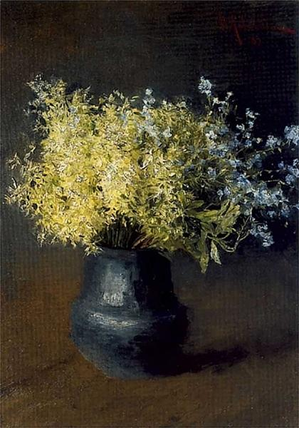 Forest violets and forget-me-nots, 1889 - Isaac Levitan