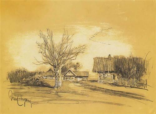 Spring in the village - isaac levitan
