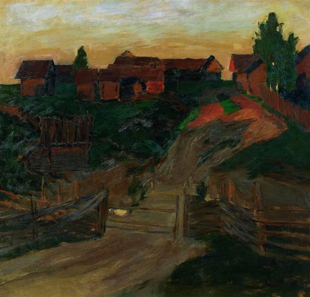 The last rays of the sun, 1899 - Isaak Iljitsch Lewitan