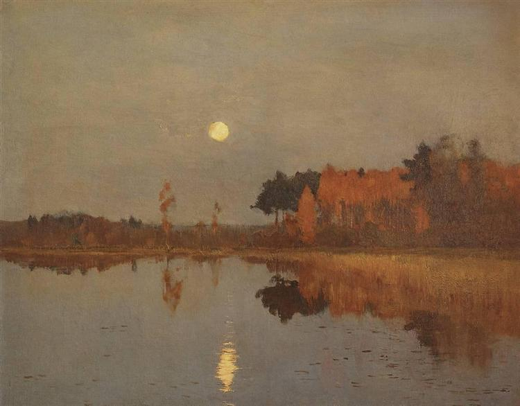 Twilight. Moon., 1899 - Isaak Iljitsch Lewitan