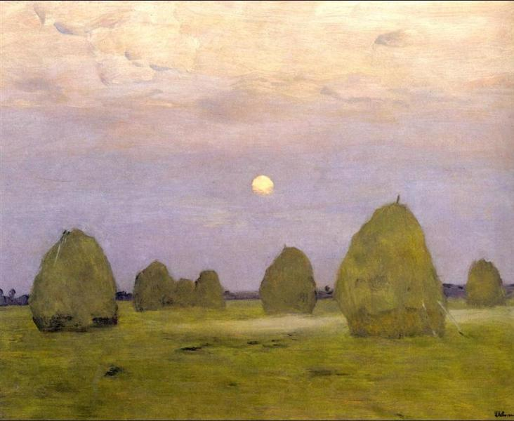 Twilight. Stacks, 1899 - Isaac Levitan