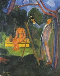 Painter with Model - Иштван Илошваи Варга