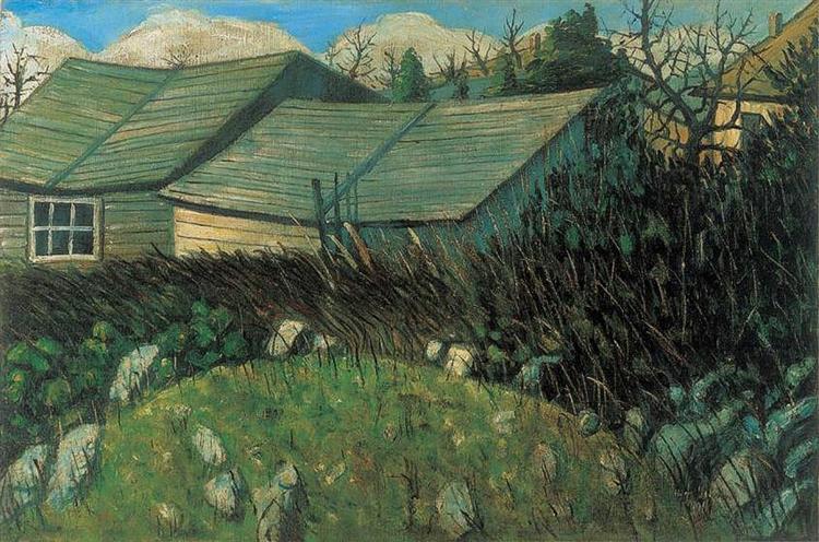 Backyard, 1911 - Istvan Nagy