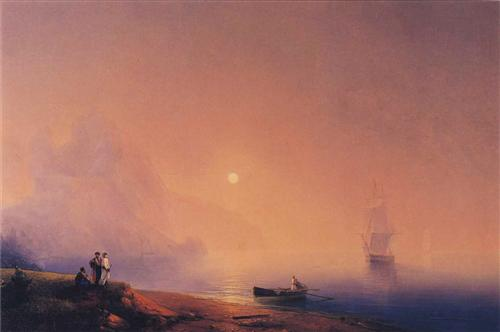 Crimean Tartars on the Sea Shore - Ivan Aivazovsky