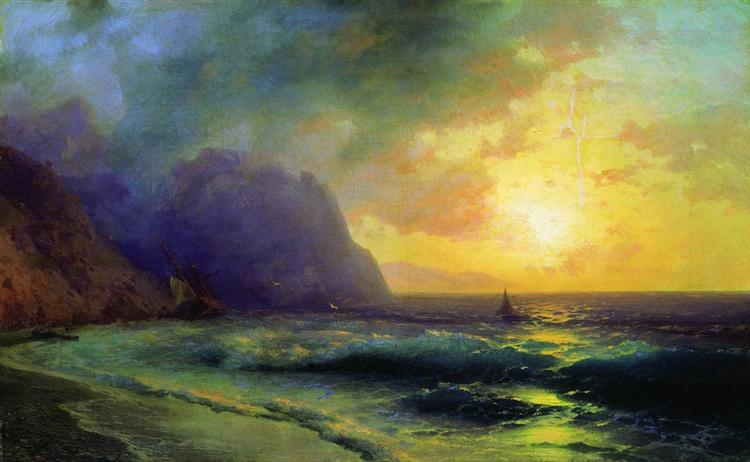 Sunset at Sea, 1853 - Ivan Aivazovsky