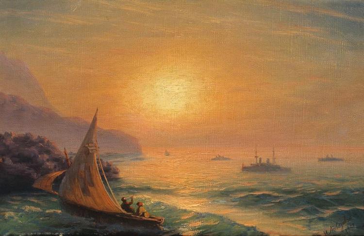 Sunset at Sea, 1899 - Ivan Aivazovsky