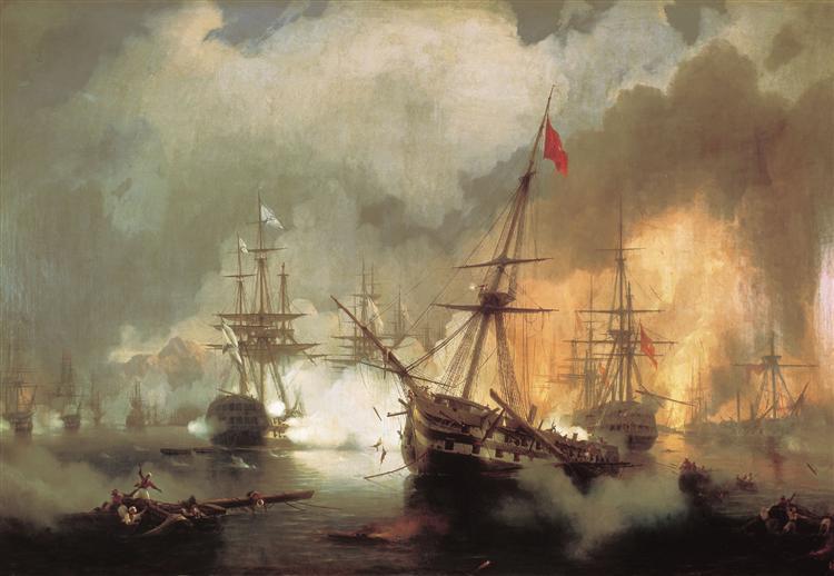 The Battle of Navarino, 1846 - Ivan Aivazovsky