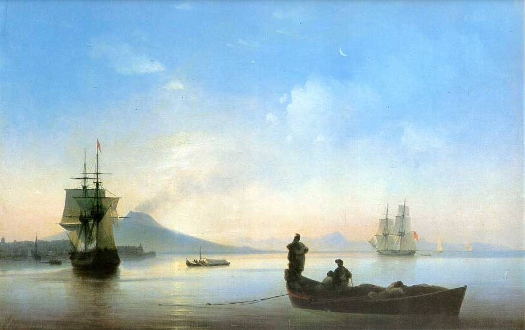 The Bay of Naples in the morning, 1843