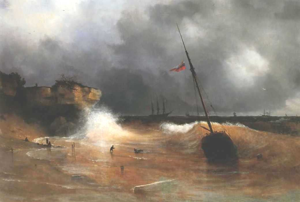 The gale on sea is over, 1839