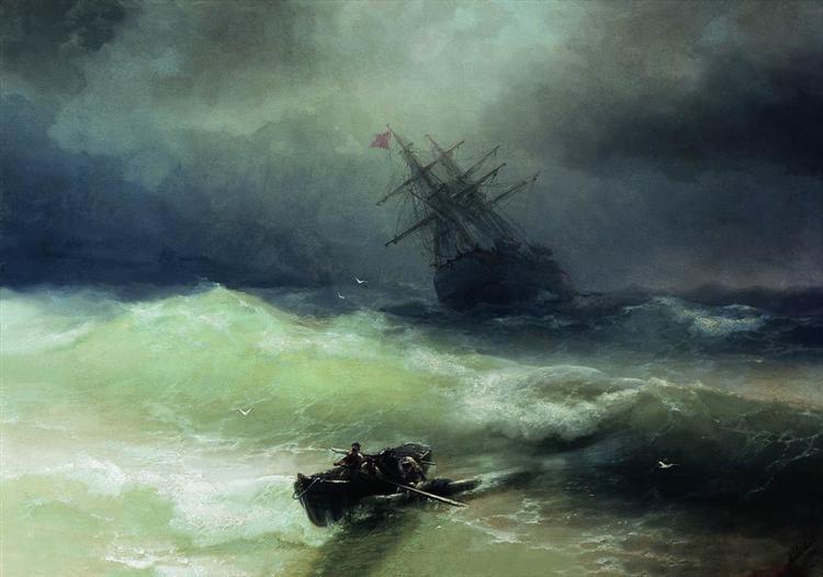 The Tempest, 1886 - Ivan Aivazovsky