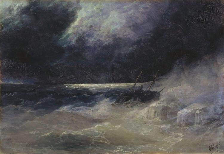 The Tempest, 1899 - Ivan Aivazovsky