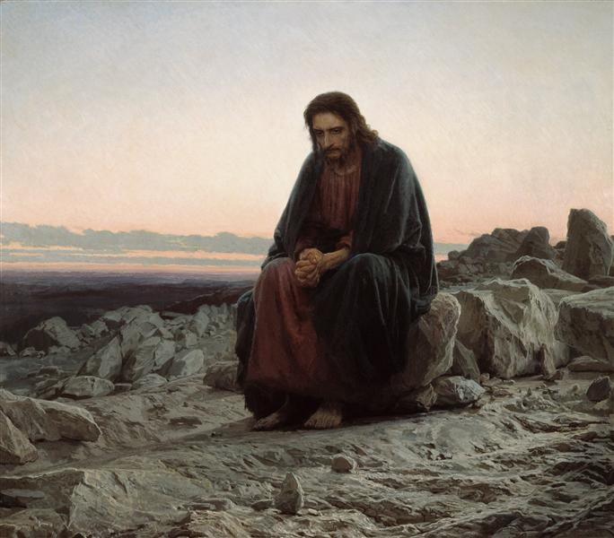 Christ in the Wilderness, 1872 - Ivan Kramskoy