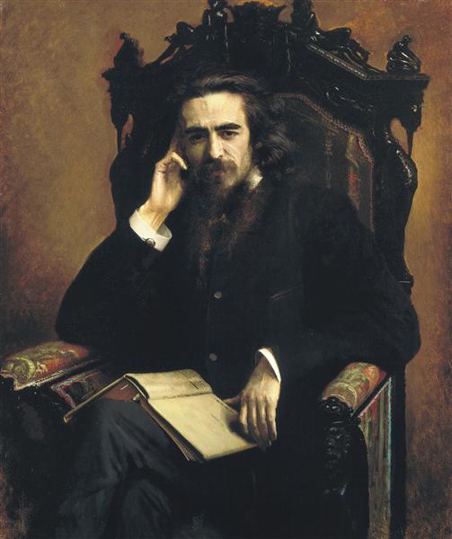 Portarait of philosopher Vladimir Solovyov, 1885 - Ivan Kramskoy
