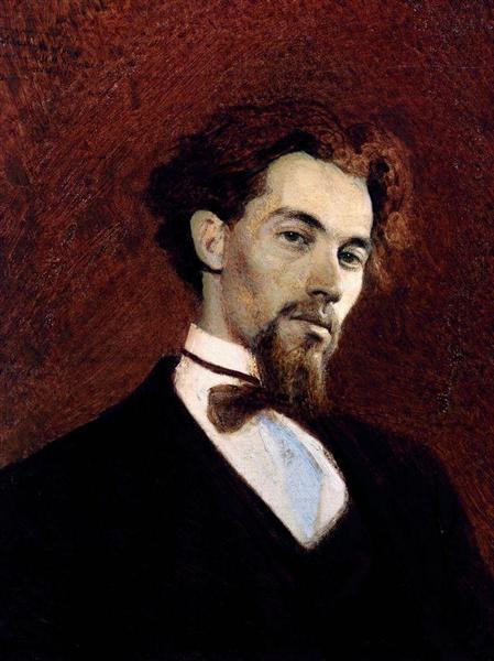 Portrait of the Artist Konstantin Savitsky, 1871 - Ivan Kramskoy