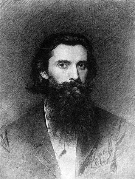 Portrait of the Artist Nikolai Dmitrievich Dmitriev-Orenburg, 1866 - Ivan Kramskoy