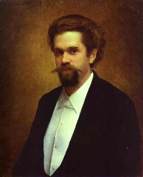Portrait of the Cellist S Morozov, 1884 - Ivan Kramskoy