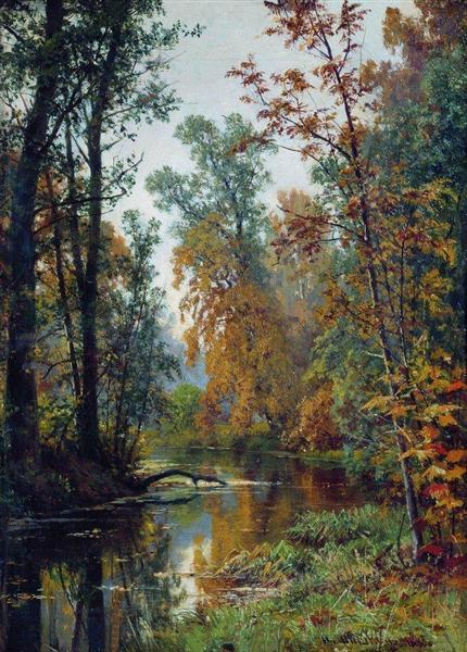 Autumn Landscape Park In Pavlovsk 1888 Ivan Shishkin Wikiart Org