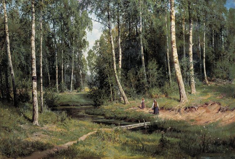 In The Birch Tree Forest, 1883 - Ivan Shishkin