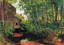 Mill in the forest. Preobrazhenskoe - Іван Шишкін