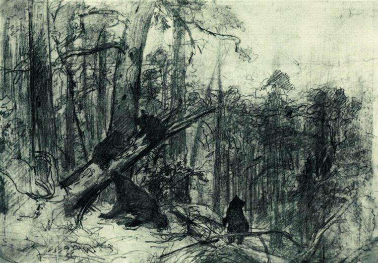 Утро в сосновом лесу, 1886 - Иван Шишкин