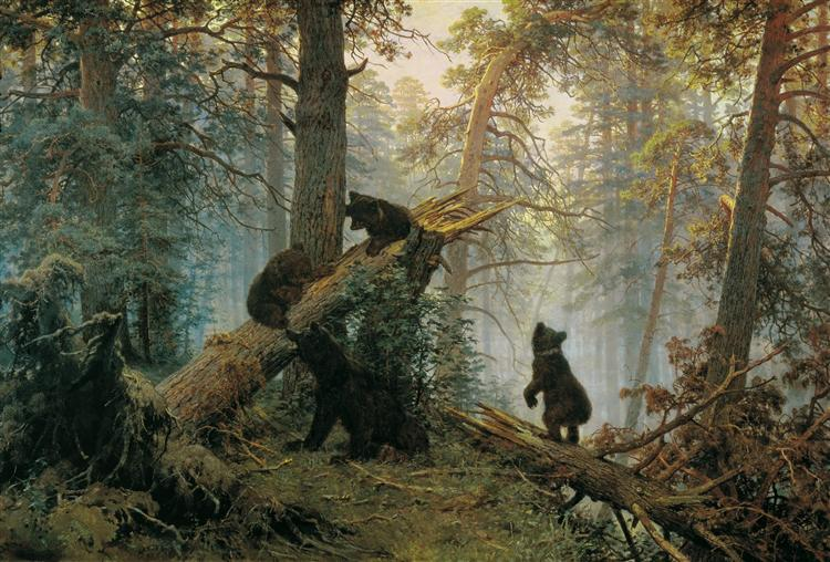 Morning in a Pine Forest - Iván Shishkin