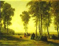 Promenading in the Forest - Іван Шишкін