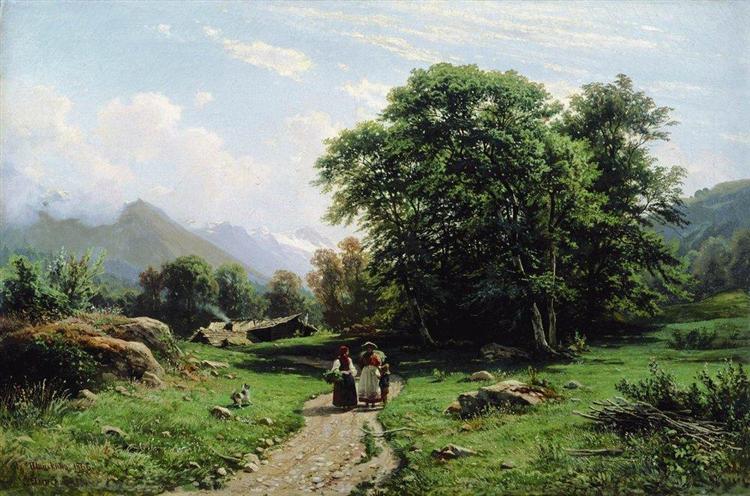 Swiss landscape, 1866 - Ivan Shishkin