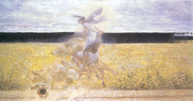 In the dust cloud - Jacek Malczewski