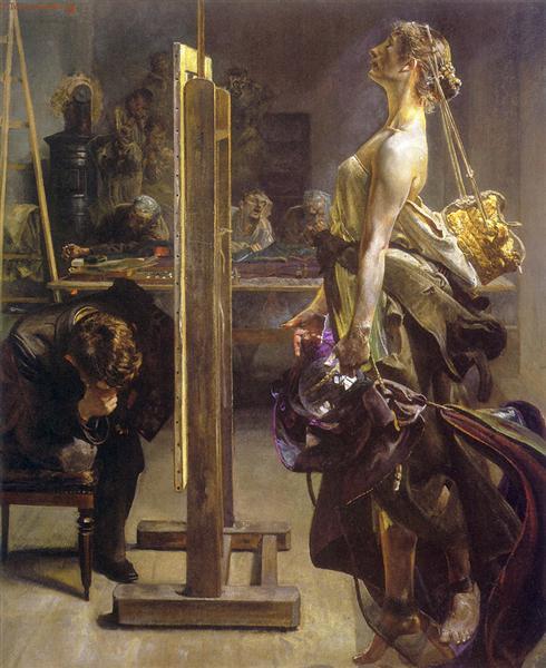 Painter's Inspiration, 1897 - Jacek Malczewski