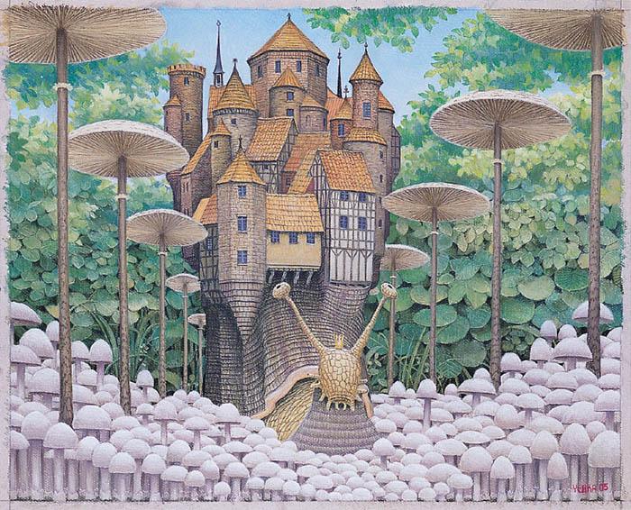 Mushroom alley - Jacek Yerka
