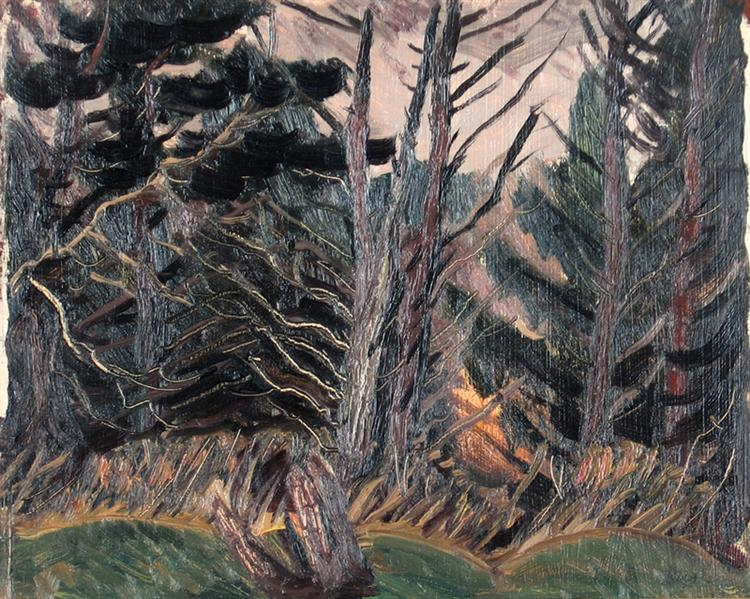 Dead Trees, 1943 - Jack Bush