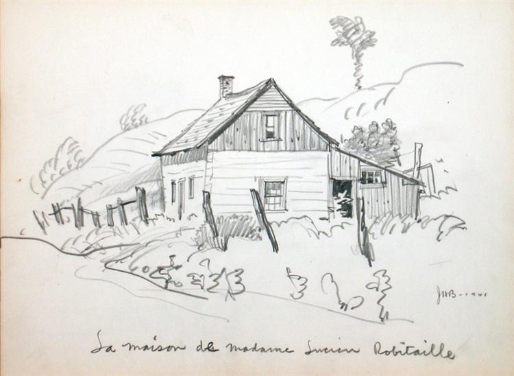 La Maison de Madame Lucien Robitaille, 1941 - Jack Bush