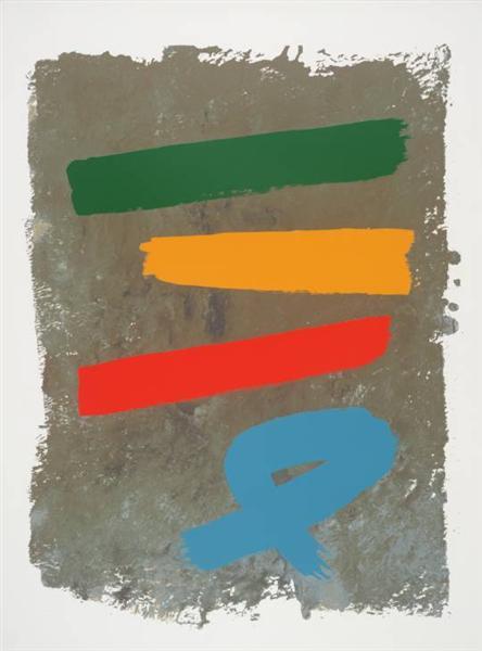 Three and Blue Loop, 1971 - Jack Bush
