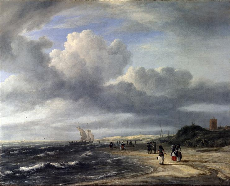 The Shore at Egmond-an-Zee, 1675 - Jacob van Ruisdael