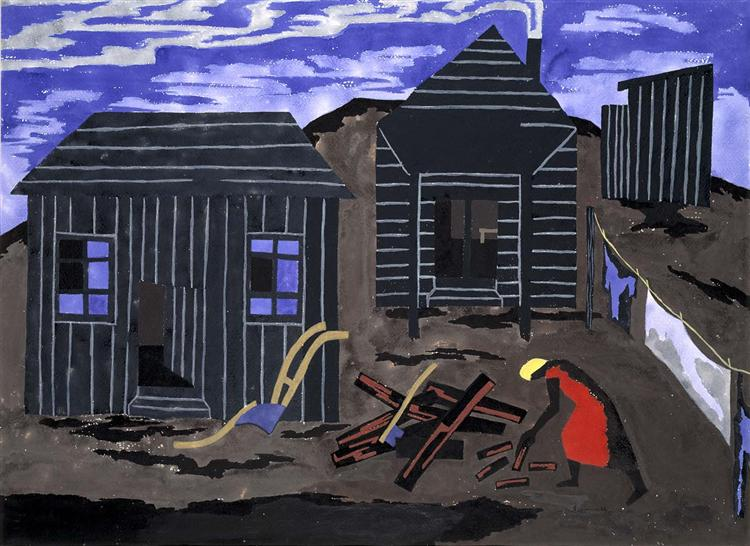 Firewood #55, 1942 - Jacob Lawrence