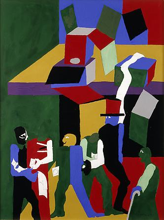 Games - Sleight of Hand, 1999 - Jacob Lawrence