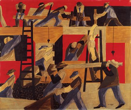 The Builders, 1947 - Джейкоб Лоуренс