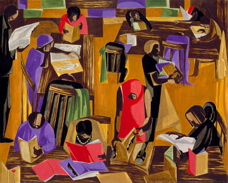 The Library, 1960 - Jacob Lawrence