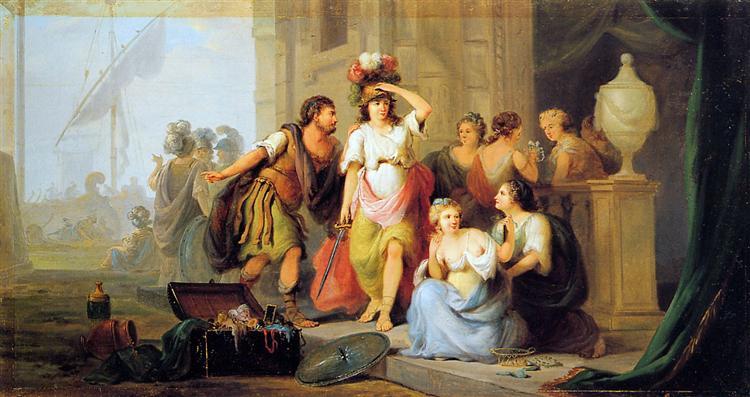Odysseus discovers Achilles - Jacob van Strij