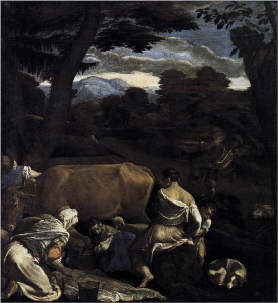 Pastoral Scene, 1560 - Jacopo Bassano